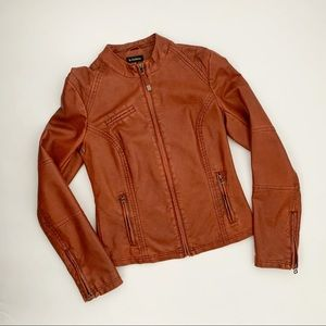 Le Chateau Brn/Rust Moto Women's Spring Jacket - S